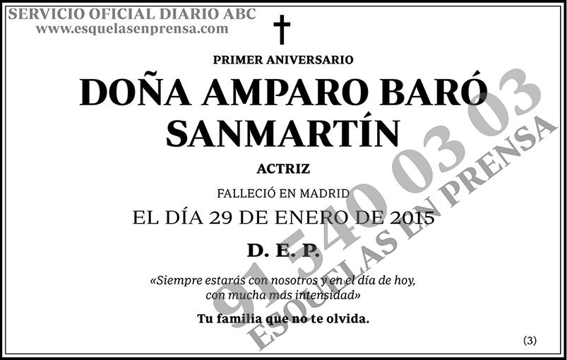 Amparo Baró Sanmartín